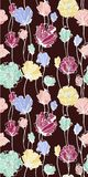 Colored flowers on the dark background. Seamless pattern. Can be used as background, wallpaper, printed textiles Royalty Free Stock Photography