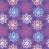 Colored Flowers. Flowers with purple background, texture Stock Images