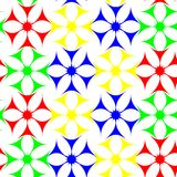 Colored flowers seamless pattern Stock Image