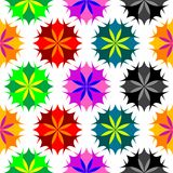 Colored flowers seamless pattern 2 Stock Images