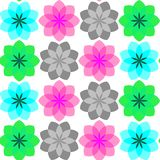 Colored flowers seamless pattern 3 Royalty Free Stock Photography