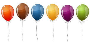 Colored flying balloons Royalty Free Stock Image