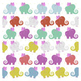 Colored flying elephants Royalty Free Stock Image
