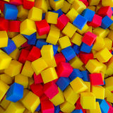 Colored foam rubber cubes background Royalty Free Stock Photography