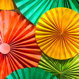 Colored folded paper pattern Stock Images