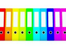 Colored folders Stock Photography