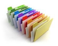 Colored folders Royalty Free Stock Photo