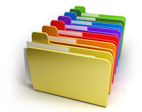 Colored folders. Isolated on white Royalty Free Stock Image