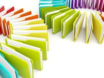 Colored folders Royalty Free Stock Photography