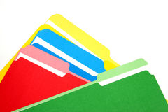 Colored Folders Royalty Free Stock Images