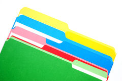 Colored folders four colors Stock Photo