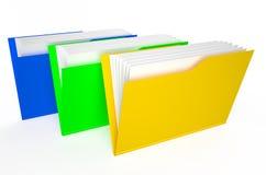 Colored folders. Isolated on white background Stock Image
