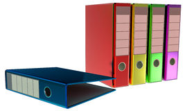 Colored folders stores important documents Royalty Free Stock Images