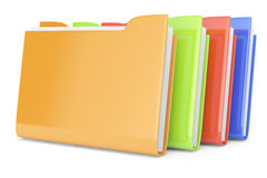 Colored folders. On white. 3d rendered image Royalty Free Stock Photos