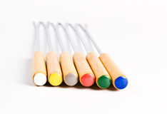 Colored fondue forks Royalty Free Stock Photo
