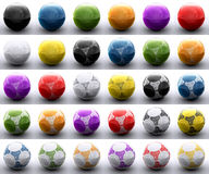 Colored football balls