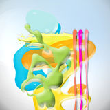 Colored forms. Background with  abstract  painting form Stock Photography