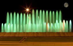 Colored fountain Stock Images