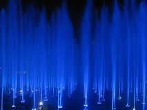 Colored Fountain. A Fountain with blue lights Stock Images