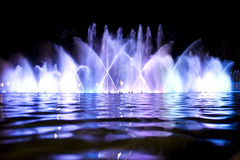 Colored fountain close up Stock Photo