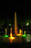Colored fountain Royalty Free Stock Images