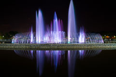colored fountains Royalty Free Stock Image