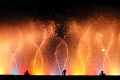 Colored fountains Royalty Free Stock Images