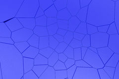 Colored fractured surface. Abstract 3d background with extruded polygons. 3D render illustration Royalty Free Stock Image