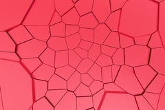 Colored fractured surface Royalty Free Stock Images
