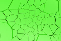 Colored fractured surface. Abstract 3d background with extruded polygons. 3D render illustration Stock Photography