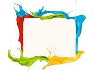 Colored frame Stock Image