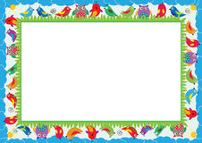 Colored frame for children Royalty Free Stock Photos