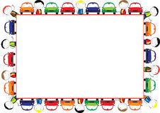 Colored frame for children. With cars Royalty Free Stock Photos