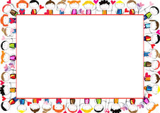 Colored frame for children Royalty Free Stock Image