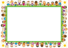Colored frame for children Stock Photo