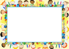 Colored frame for children Stock Photos