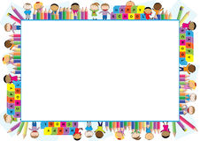 Colored frame for children. Colored frame for the school year Stock Image