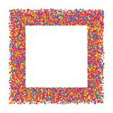 Colored frame. Colored frame isolated on white background. Colorful explosion of  confetti.  Flat design element. Vector illustration,eps 10 Royalty Free Stock Photography