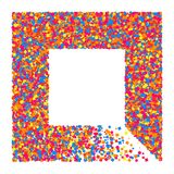 Colored frame. Colored frame isolated on white background. Colorful explosion of  confetti.  Flat design element. Vector illustration,eps 10 Royalty Free Stock Image
