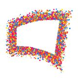 Colored frame. Colored frame isolated on white background. Colorful explosion of  confetti.  Flat design element. Vector illustration,eps 10 Royalty Free Stock Photos