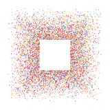 Colored frame. Colored frame isolated on white background. Colorful explosion of  confetti.  Flat design element. Vector illustration,eps 10 Stock Photo