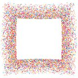 Colored frame. Colored frame isolated on white background. Colorful explosion of  confetti.  Flat design element. Vector illustration,eps 10 Stock Images