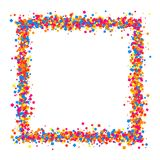 Colored frame. Colored frame isolated on white background. Colorful explosion of  confetti.  Flat design element. Vector illustration,eps 10 Royalty Free Stock Images