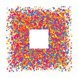 Colored frame. Colored frame isolated on white background. Colorful explosion of  confetti.  Flat design element. Vector illustration,eps 10 Stock Photos