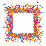 Colored frame. Colored frame isolated on white background. Colorful explosion of  confetti.  Flat design element. Vector illustration,eps 10 Stock Photography