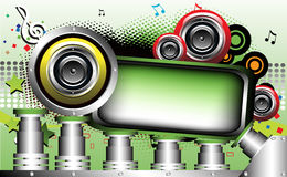 Colored frame with loudspeakers Royalty Free Stock Images