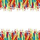 colored frame pencils иллюстрация штока