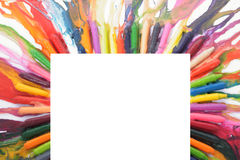 Colored frame from pencils Stock Photos