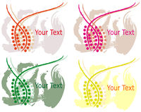 Colored frames. Collections of the coloured banners vector illustration