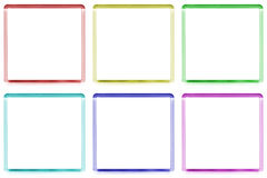 Colored frames. With space for text or illustrations Stock Photo